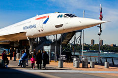 The Concorde Jet at the Intrepid Museum. Stock Photo