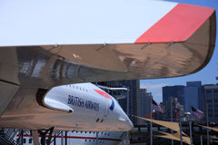 Concorde no USS intrépido Imagens de Stock