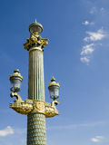 Concorde Square Lamp. One of the beautiful lamps of the Concorde Square Royalty Free Stock Image