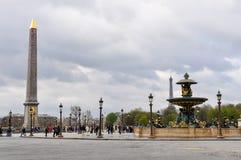 Concorde Square in Parijs, Frankrijk Royalty-vrije Stock Foto's