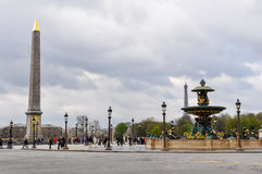 Concorde Square in Paris, France Royalty Free Stock Photos