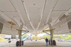 Concorde supersonisch vliegtuig bij brooklands, het UK royalty-vrije stock foto