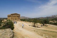 concorde tempel Arkivfoto