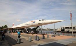 Concorden som ställs ut på det oförskräckta havsmuseet i Manhattan Royaltyfria Bilder