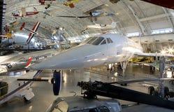Concorden tillsammans med annat flygplan Royaltyfri Fotografi
