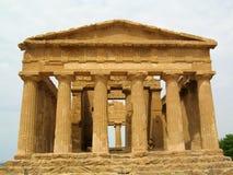 Concordia寺庙在阿哥里根托,西西里岛-意大利 图库摄影