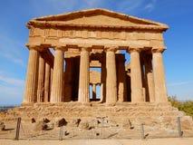 Concordia希腊寺庙-寺庙的谷-西西里岛 免版税库存照片