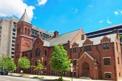 Concordia德语宣教会和神父寓所在华盛顿 免版税图库摄影