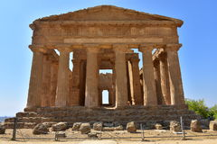 Concordia -阿哥里根托-西西里岛-意大利的寺庙 免版税库存图片