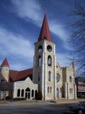 Concordia Church 2. Catholic church in Concordia Kansas stock photo
