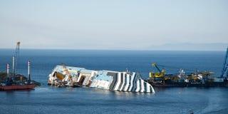 Concordia cruis shipwreck Zdjęcie Royalty Free