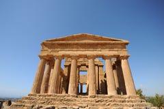 Concordia grecka świątynia, Agrigento, Sicily Zdjęcia Royalty Free