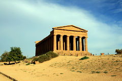 Concordia greek temple, Agrigento - Italy Stock Photo