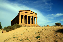 Concordia greek temple, Agrigento - Italy Stock Image