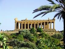 Concordia Tempel in Agrigent Stockfotos