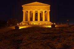 Concordia-Tempel in archäologischem Park Agrigents lizenzfreie stockfotografie