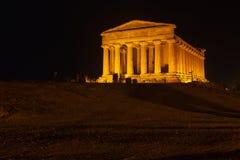 Concordia-Tempel in archäologischem Park Agrigents stockbild