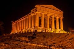 Concordia-Tempel in archäologischem Park Agrigents lizenzfreies stockfoto