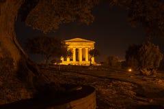 Concordia-Tempel in archäologischem Park Agrigents stockfotografie