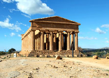 Concordia Temple at Agrigento Stock Images