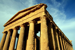 Concordia temple columns. Agrigento - Italy Stock Photos