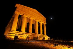 Concordia Temple. Temple valley, Sicily, one of the temples fronts royalty free stock photos