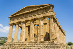 Concordia Temple. Valley of the Temples, Agrigento on Sicily, Italy Stock Photos