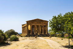 Concordia Temple. Valley of the Temples, Agrigento on Sicily, Italy Stock Image