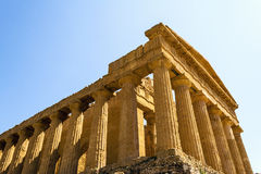Concordia Temple. Valley of the Temples, Agrigento on Sicily, Italy Stock Images