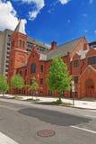 Concordia tysk evangelikal kyrka- och prästgårdWashington DC Arkivfoto
