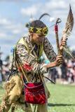 Concorrente di ballo di powwow del nativo americano Fotografia Stock Libera da Diritti
