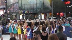 Concorrentes da senhorita America Fotos de Stock Royalty Free