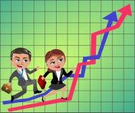 Concorrentes do negócio Imagem de Stock