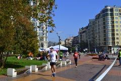 Concorrentes que correm Sofia South Park Imagem de Stock