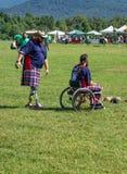 Concorrenti ai giochi dell'altopiano, Salem, VA di handicap immagine stock