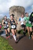 Concorrenti alla maratona dell'epifania, Roma, Italia Fotografia Stock