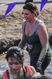 Concorrenti 2014 della corsa del fango di Muderrella Immagini Stock Libere da Diritti