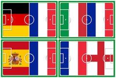 Concorrenti della Francia di quarto-finali di calcio Fotografia Stock Libera da Diritti