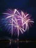 Concorrenza 2008 dei fuochi d'artificio Fotografia Stock Libera da Diritti