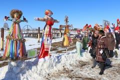 Concorrenza degli effigii durante la festa Immagine Stock Libera da Diritti