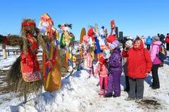 Concorrenza degli effigii sulla festa russa Immagine Stock