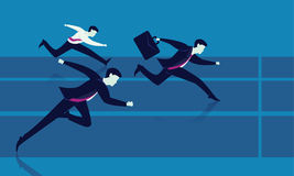 Concorrenza degli uomini d'affari Corsa a successo Fotografia Stock Libera da Diritti