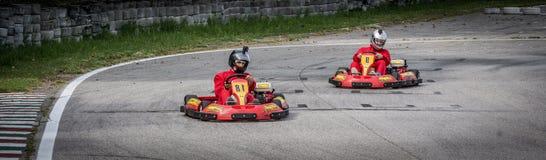 Concorrenza dei go-kart Fotografia Stock Libera da Diritti