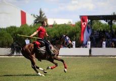 Concorrenza del cavallerizzo con il giavellotto Immagine Stock Libera da Diritti