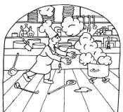 Concorrenza del cuoco unico Fotografia Stock