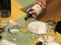 Concorrenza del vino Fotografie Stock Libere da Diritti