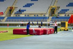 Concorrenza dell'atletica leggera Fotografie Stock
