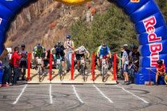 Concorrenza della bici fotografie stock libere da diritti