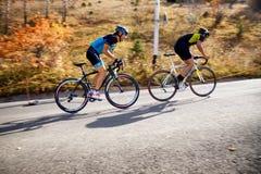 Concorrenza della bici fotografia stock