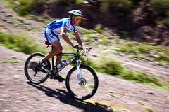 Concorrenza della bici di montagna Immagine Stock